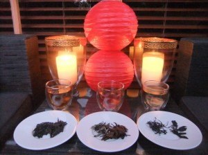 The various teas from China we paired with food for Chinese New Year