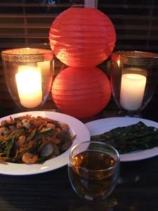 Main Course with Da Hong Pao (aka ' Big Red Robe' ) Tea
