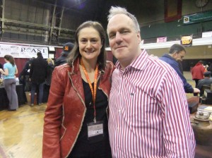 Effie Gidakos (our CEO) with Mike Harney